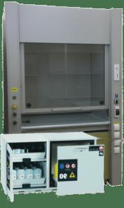 Dygestorium można wyposażyć w szafę ognioodporną